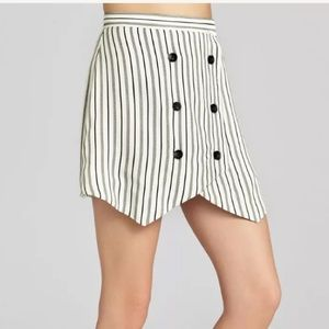 BCBGeneration Skirt Striped Asymmetric Nautical